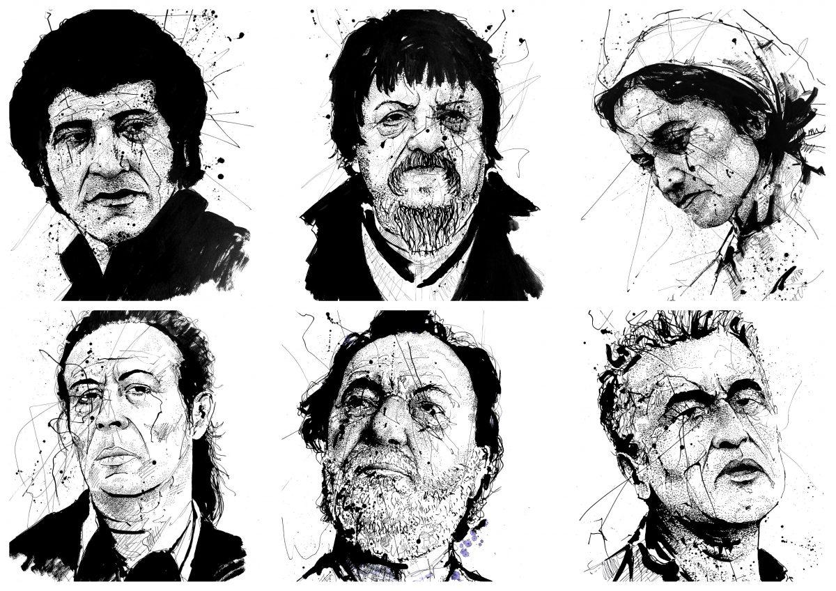 Dibujo de retrato y caricatura